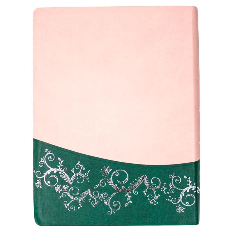 A Bíblia Da Pregadora   ARA   Capa Couro Sintético   Rosa E Verde