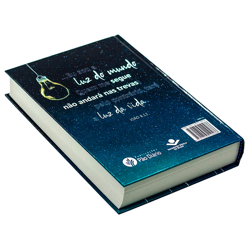 A Bíblia Diz - Capa Lâmpada   NAA   Capa Dura   Letra Grande   Ilustrada