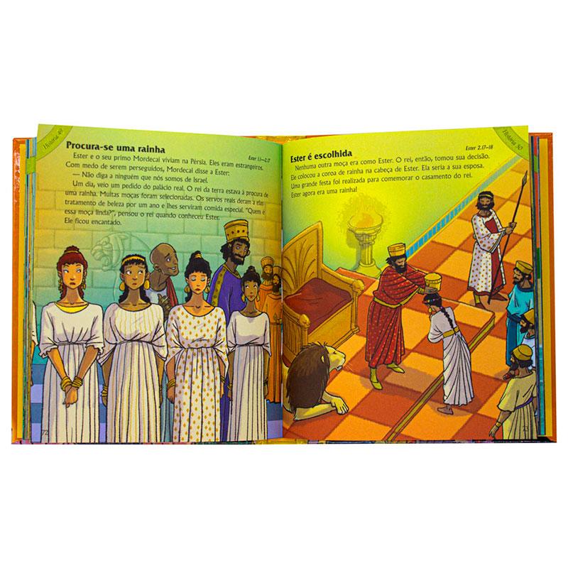 As 100 Melhores Histórias da Bíblia | Infantil | Capa Dura Almofadada | Marrom
