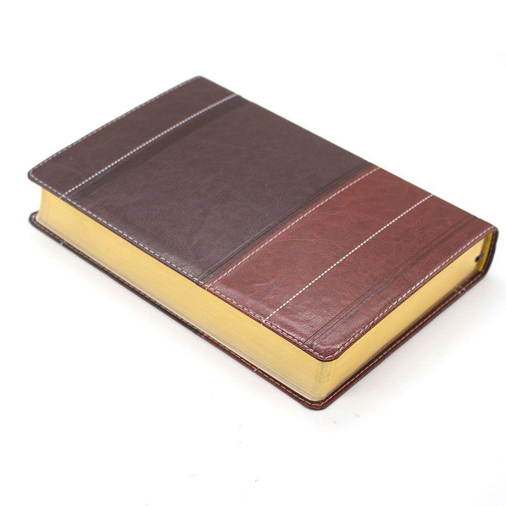 Bíblia A Mensagem | Linguagem Contemporânea | Capa Dura | Marrom E Café
