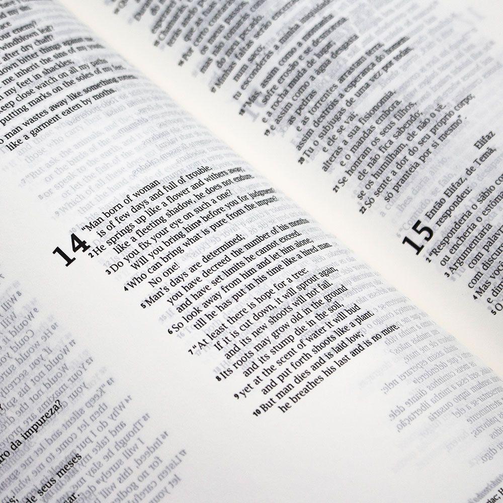 Bíblia Bilíngue Português E Inglês | NVI | Capa Pu | Marrom