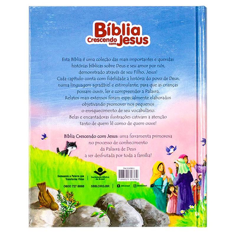 Bíblia Crescendo Com Jesus | Infantil | Capa Dura | Ilustrada