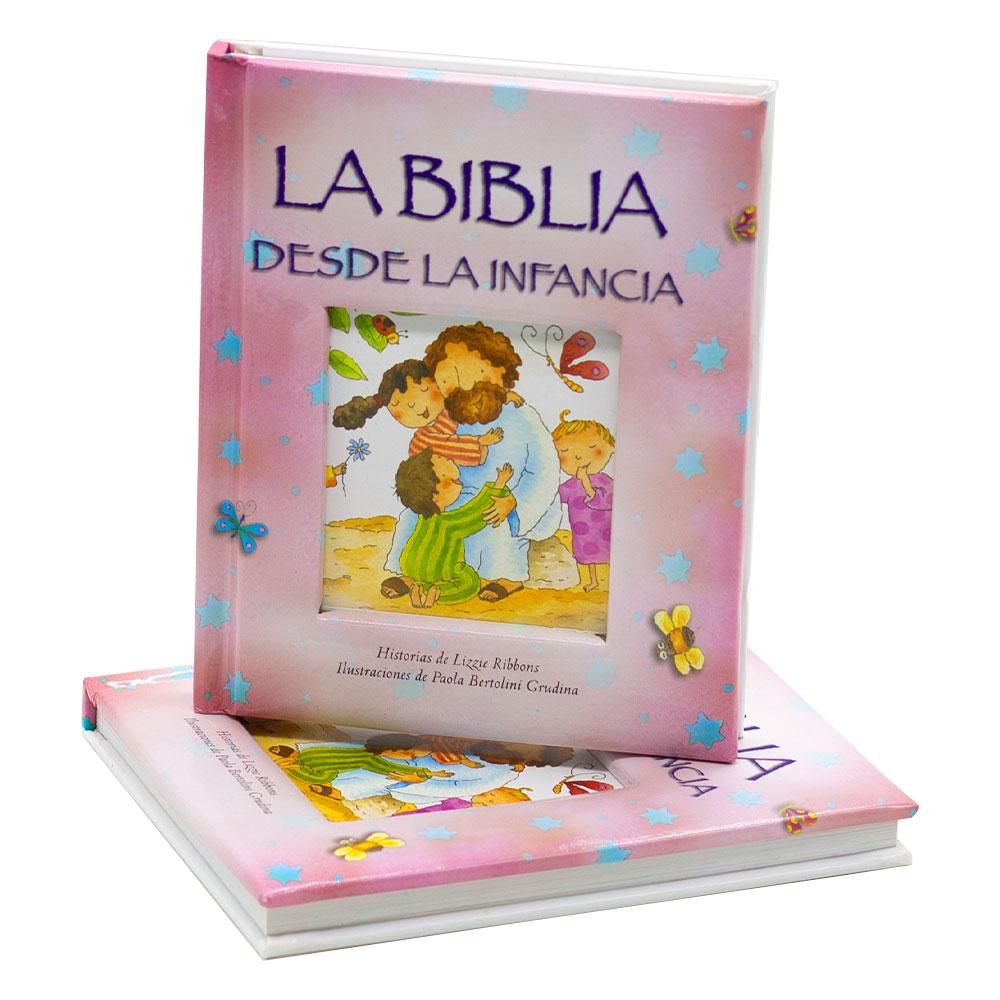 Biblia Da Infância Em Espanhol | Capa Dura | Rosa