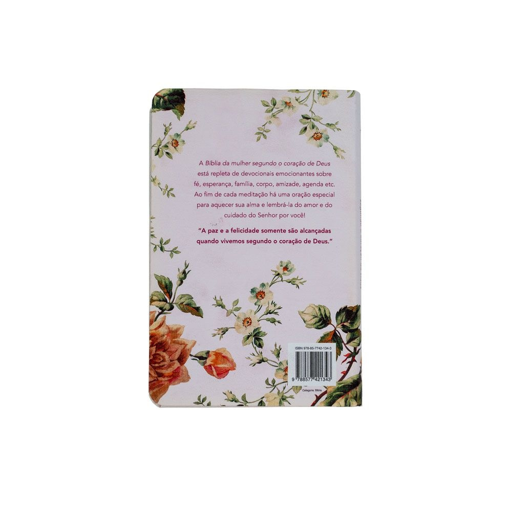 Bíblia Da Mulher Segundo O Coração De Deus | Almeida Século 21 | Capa Dura | Roseira