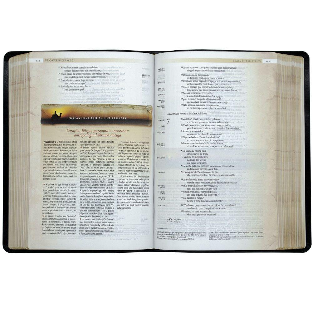 Bíblia De Estudo Arqueológica   NVI   Capa Luxo   Cor Preta