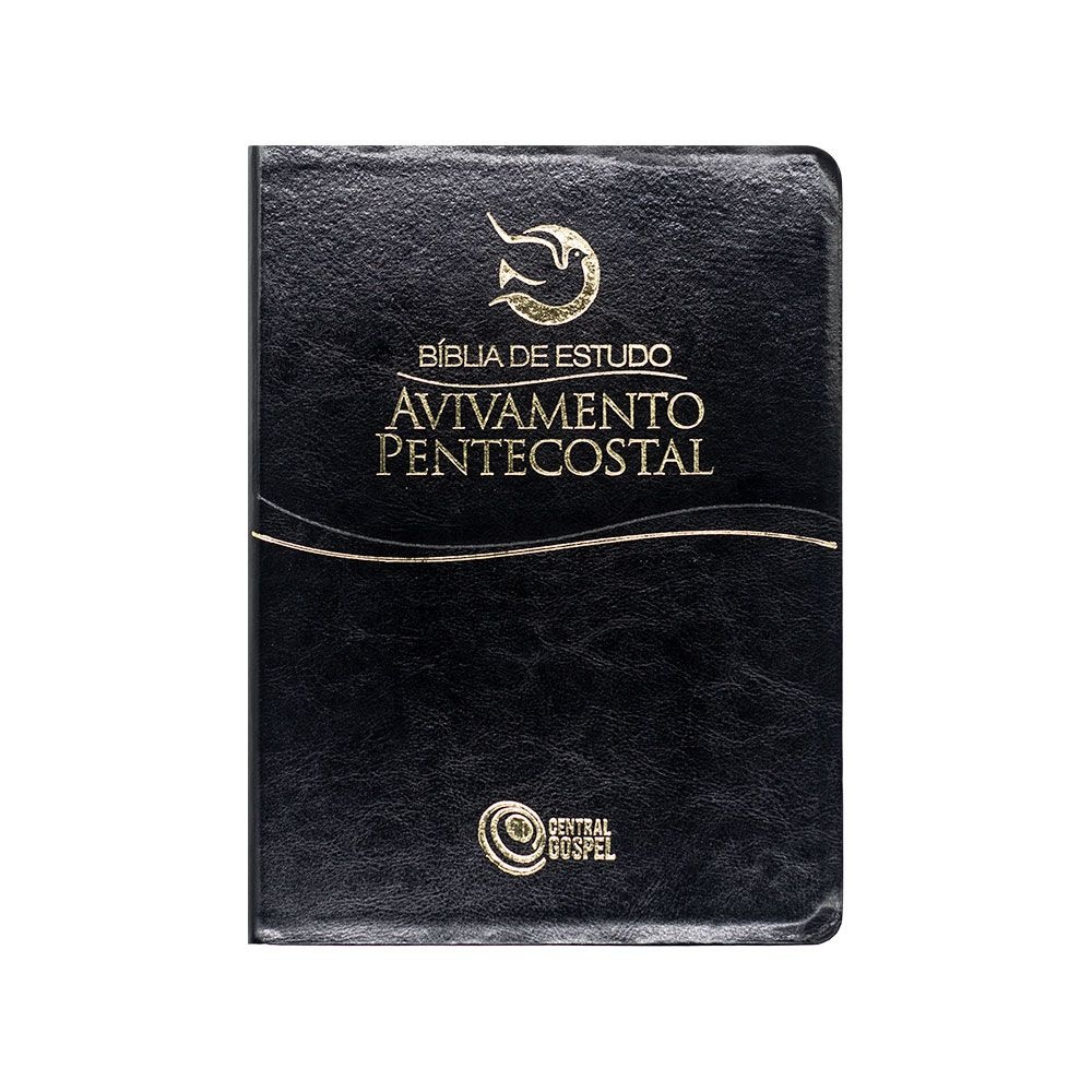 Bíblia De Estudo Avivamento Pentecostal   ARC   Capa Semiluxo   Letra Gigante   Preta