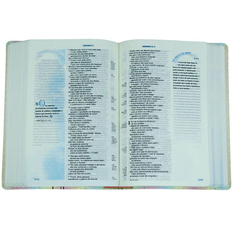 Bíblia De Estudo Da Mulher De Fé   NVI   Capa Luxo Branca