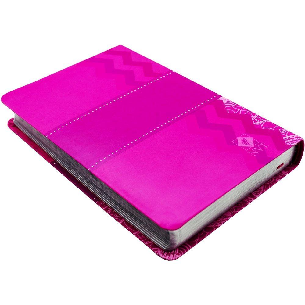 Bíblia De Estudo Desafios De Toda Mulher   NVT   Capa Flexível   Rosa
