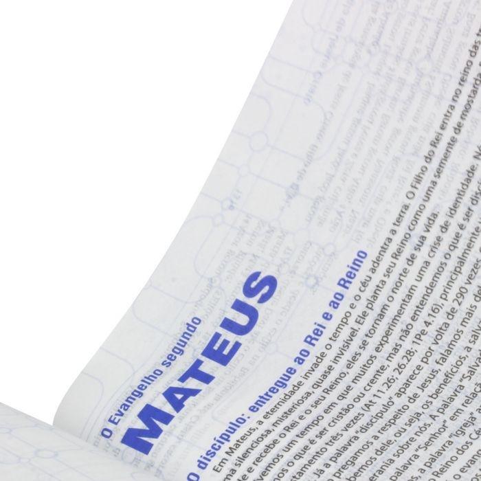 Bíblia De Estudo Do Discipulado | NAA | Capa Brochura | Azul