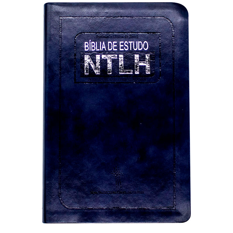 Bíblia De Estudo | NTLH | Capa Couro Sintético | Azul