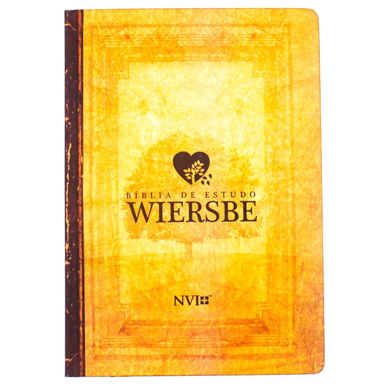 Bíblia De Estudo Wiersbe | NVI | Capa Dura Semiluxo | Neutra / Estampada