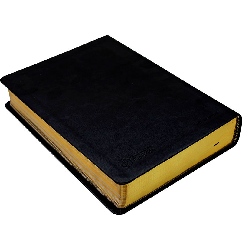 Biblia De Estudos E Sermões Spurgeon   NVT   Luxo   Letra Grande   Preta
