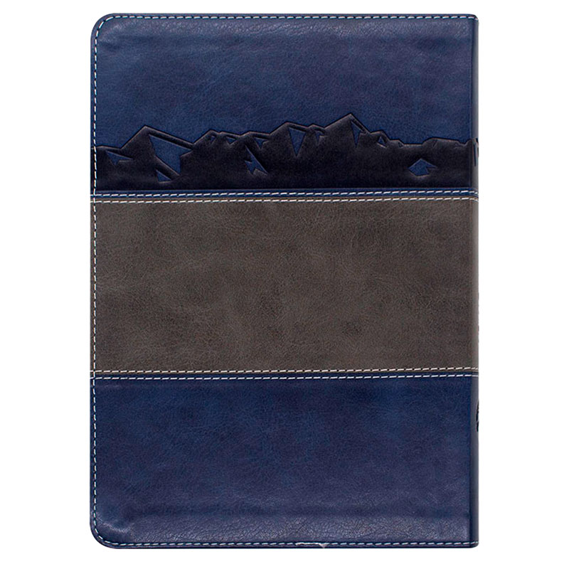 Bíblia Desafios De Todo Homem | NVT | Capa Luxo | Azul