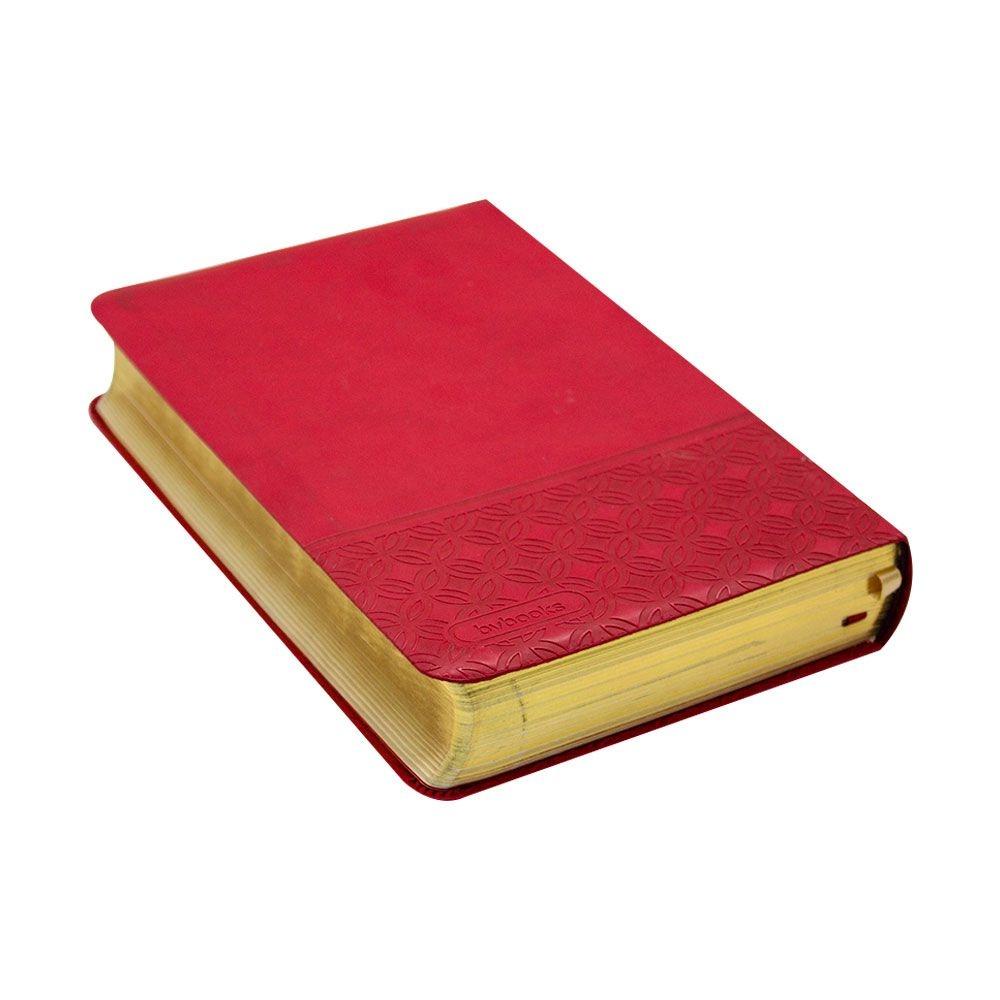 Bíblia Do Pescador Borda Prateada | NVI | Capa Pu | Letra Grande | Vermelho