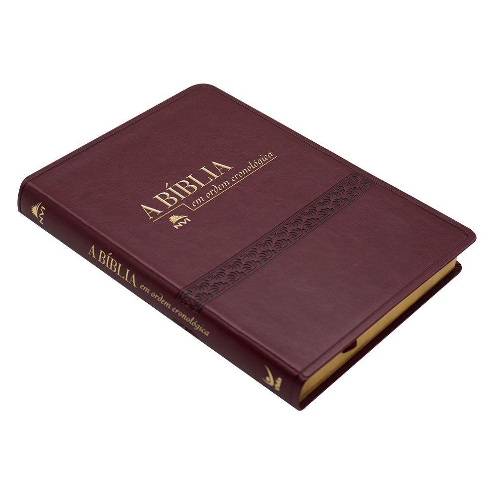 Bíblia Em Ordem Cronológica | NVI | Capa PU Vinho