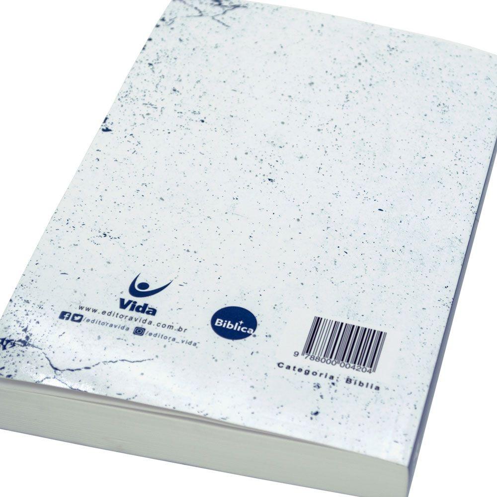 Bíblia Jesus Vive   NVI   Brochura  Branca E Azul