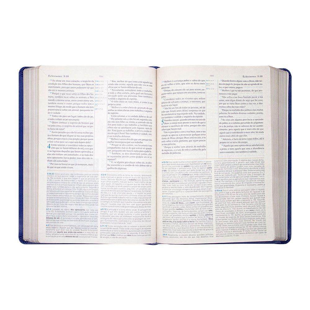 Bíblia King James 1611 Com Estudo Holman   BKJF   Capa Luxo   Azul