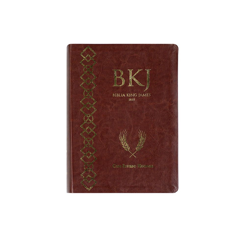 Bíblia King James 1611 Com Estudo Holman | BKJF | Capa Luxo | Marrom