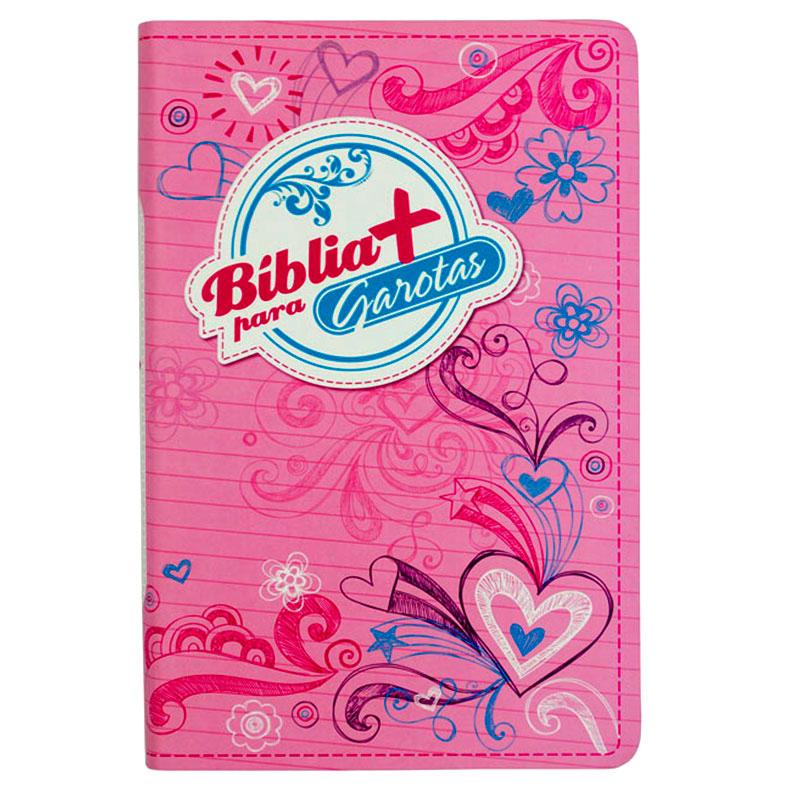 Bíblia Mais para Garotas | NTLH | Letra Normal | Capa Flexível Rosa Claro