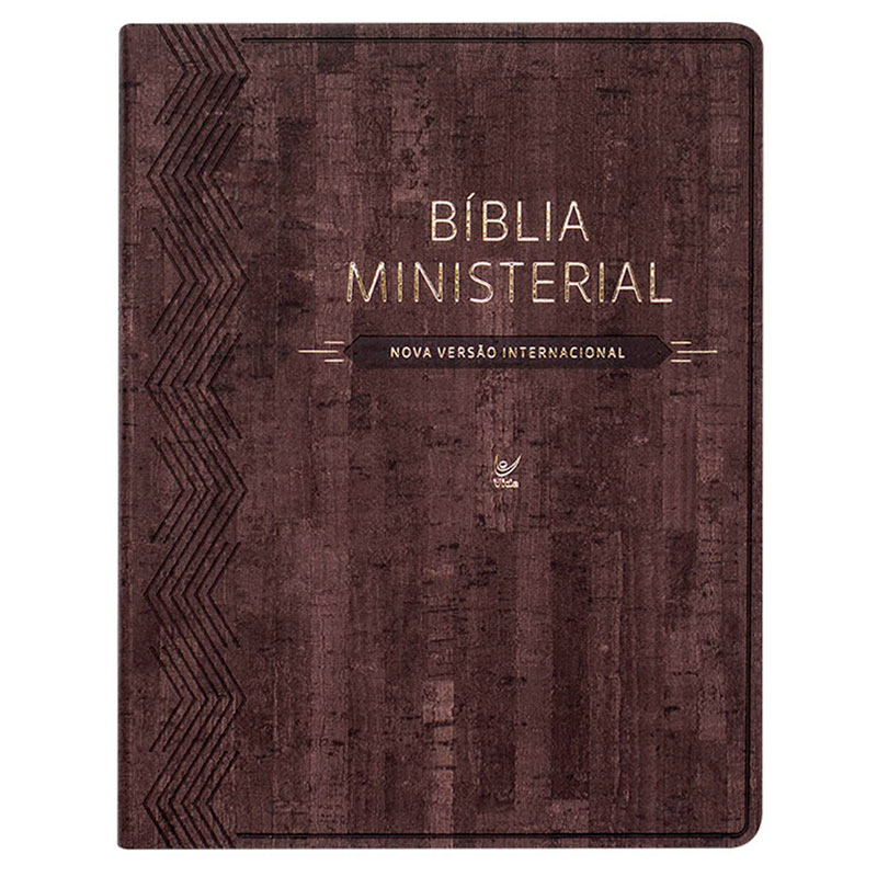 Bíblia Ministerial   NVI   Capa Pu   Marrom Escuro