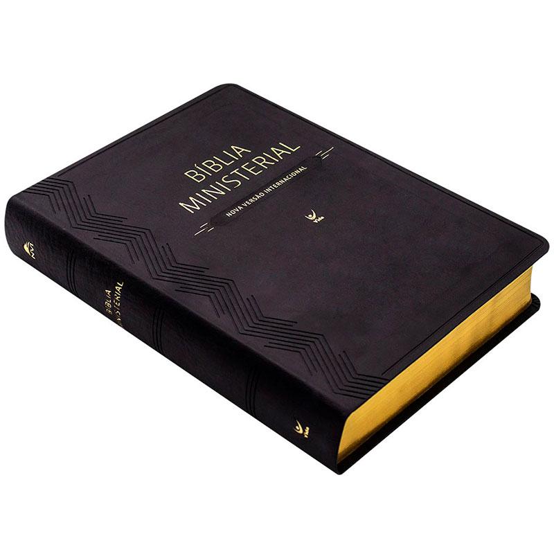 Bíblia Ministerial   NVI   Capa Pu   Preta