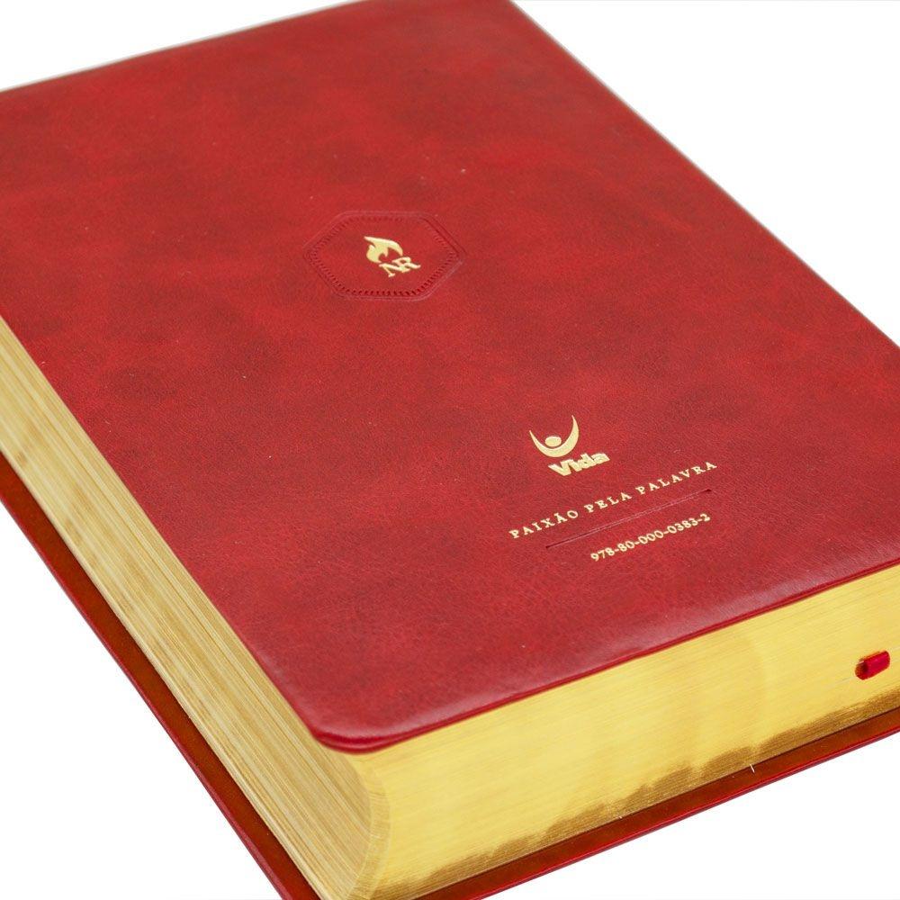 Bíblia Nova Reforma | NVI | Capa Pu | Vermelha