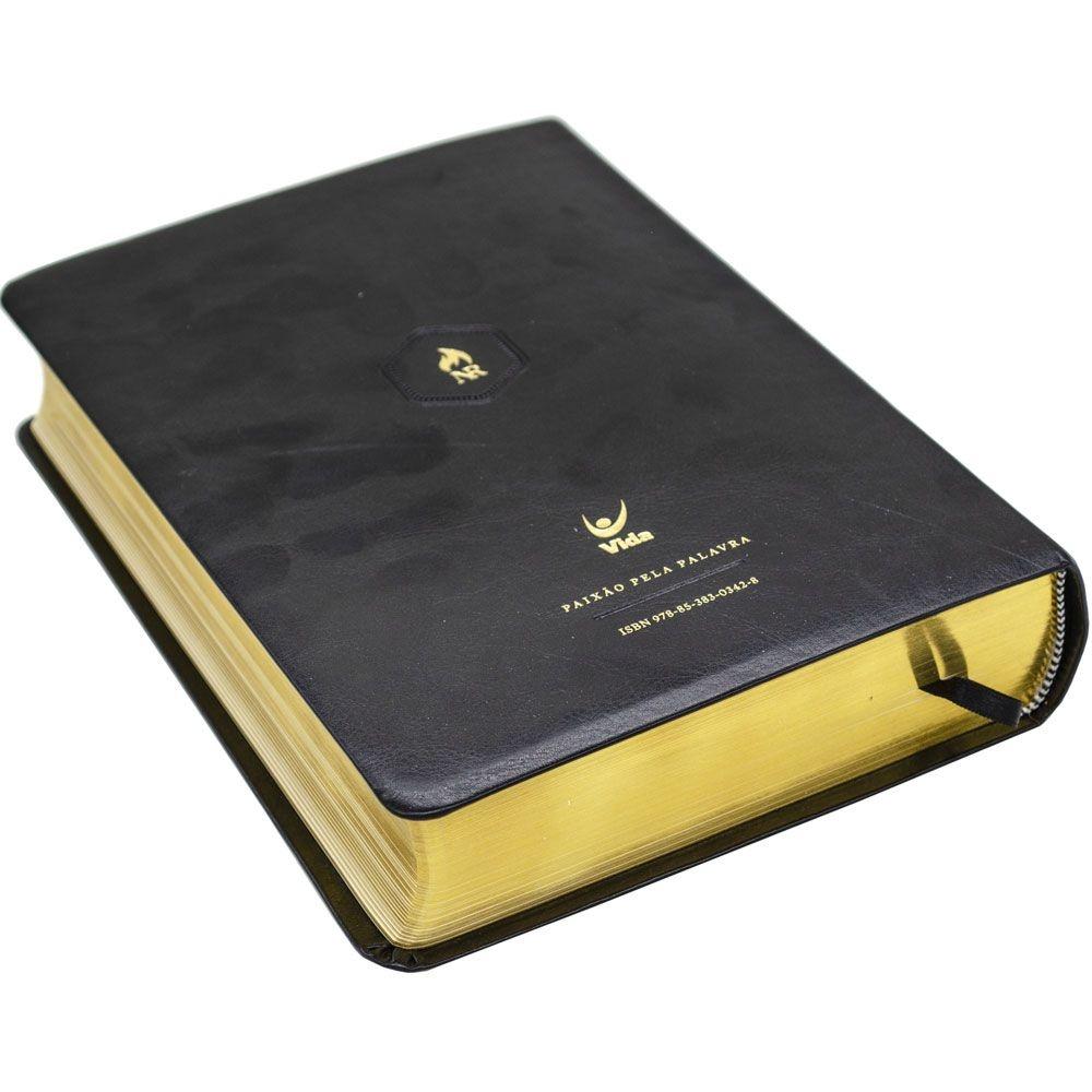 Bíblia Nova Reforma   NVI   Luxo   Capa Pu   Preta