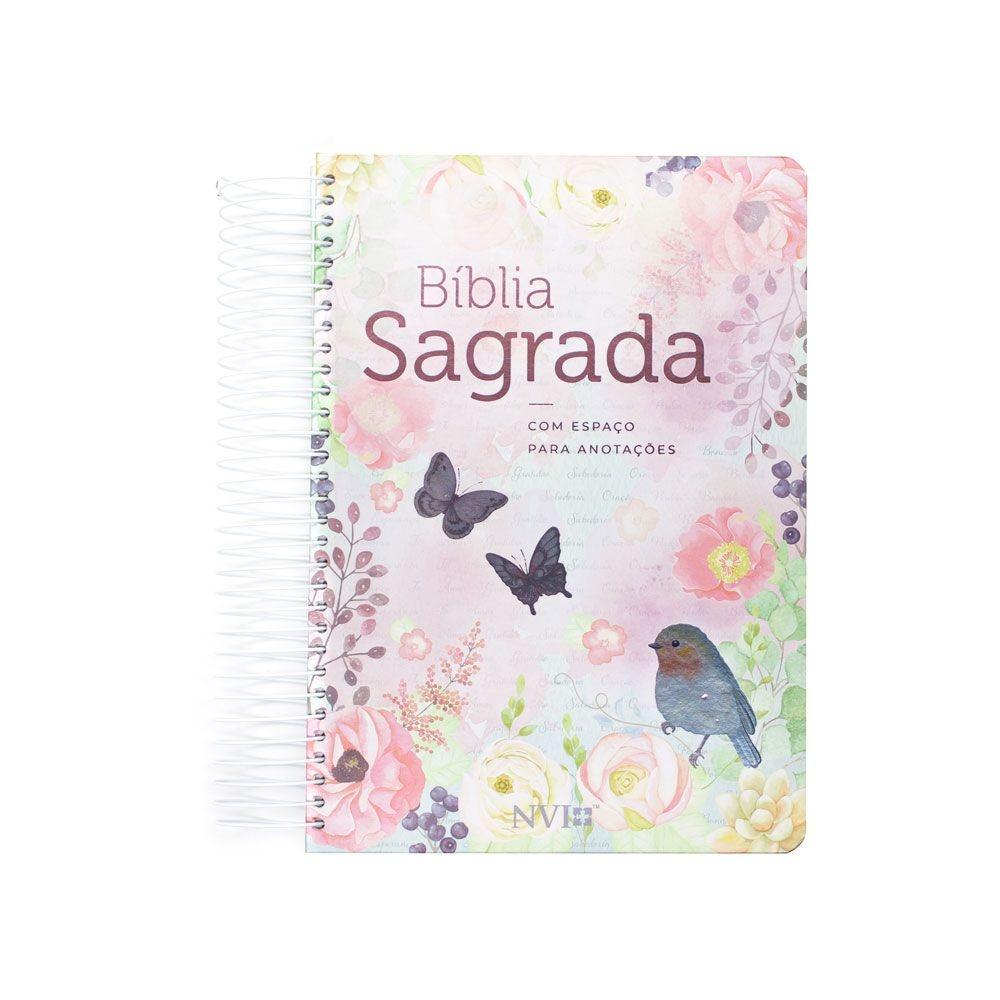 Bíblia Sagrada Anote - Clássica Virtuosa | NVI | Capa Dura Espiral | Ilustrada