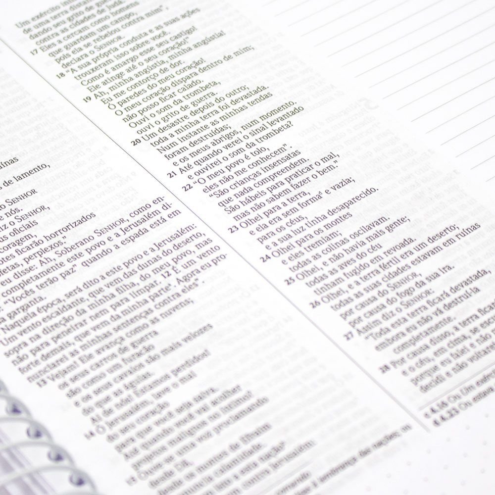 Bíblia Sagrada Anote - Com Espaço Para Anotações | NVI | Encadernado Espiral | Floral
