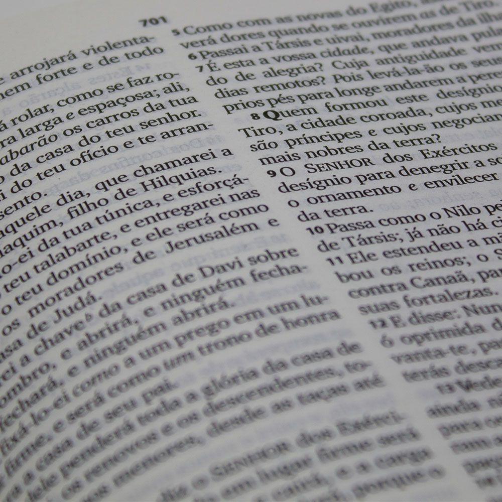 Bíblia Sagrada | ARC | Capa Corvetex | Letra Grande | Preta