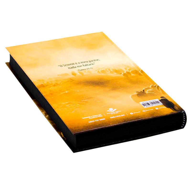 Bíblia Sagrada Bom Pastor   ARC   Capa Dura   Amarela
