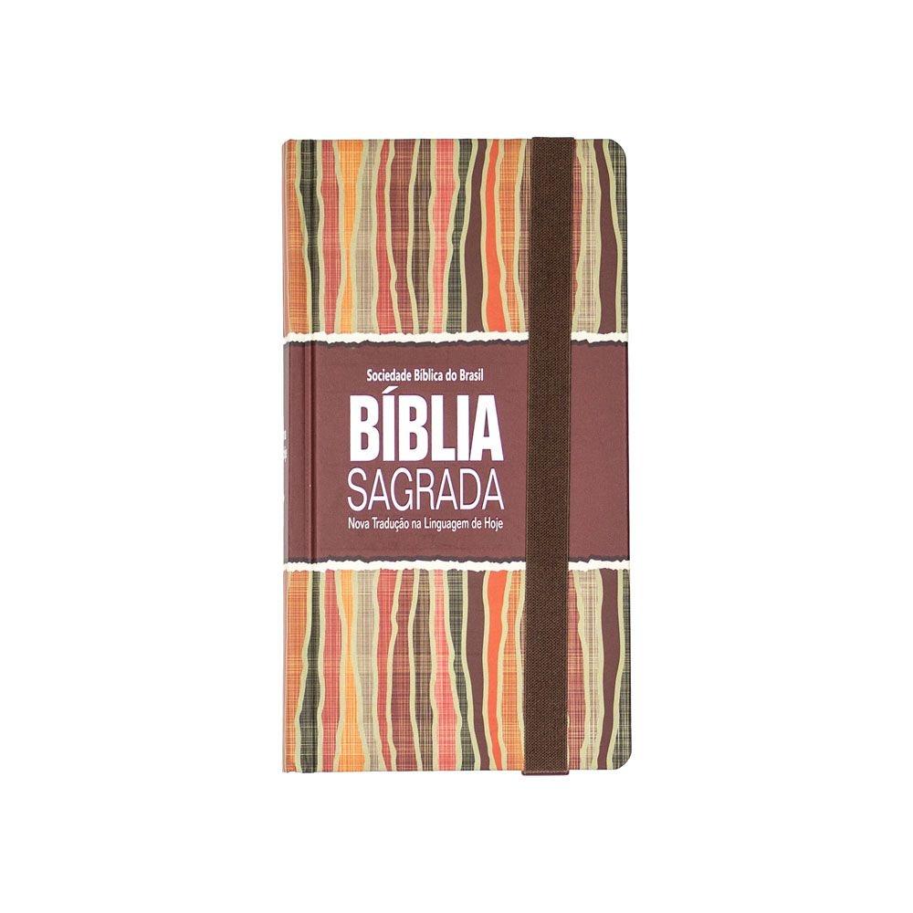 Bíblia Sagrada Carteira   NTLH   Capa Dura   Pêssego