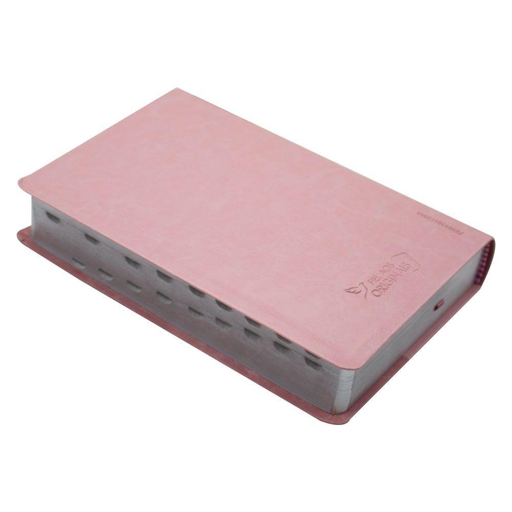 Bíblia Sagrada   Com índice   ARC   Capa Luxo  Rosa Claro