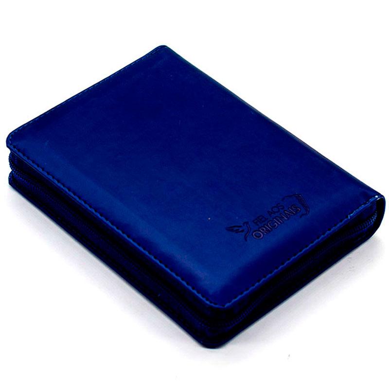 Bíblia Sagrada Com Índice E Zíper | ARC | Capa PU | Azul