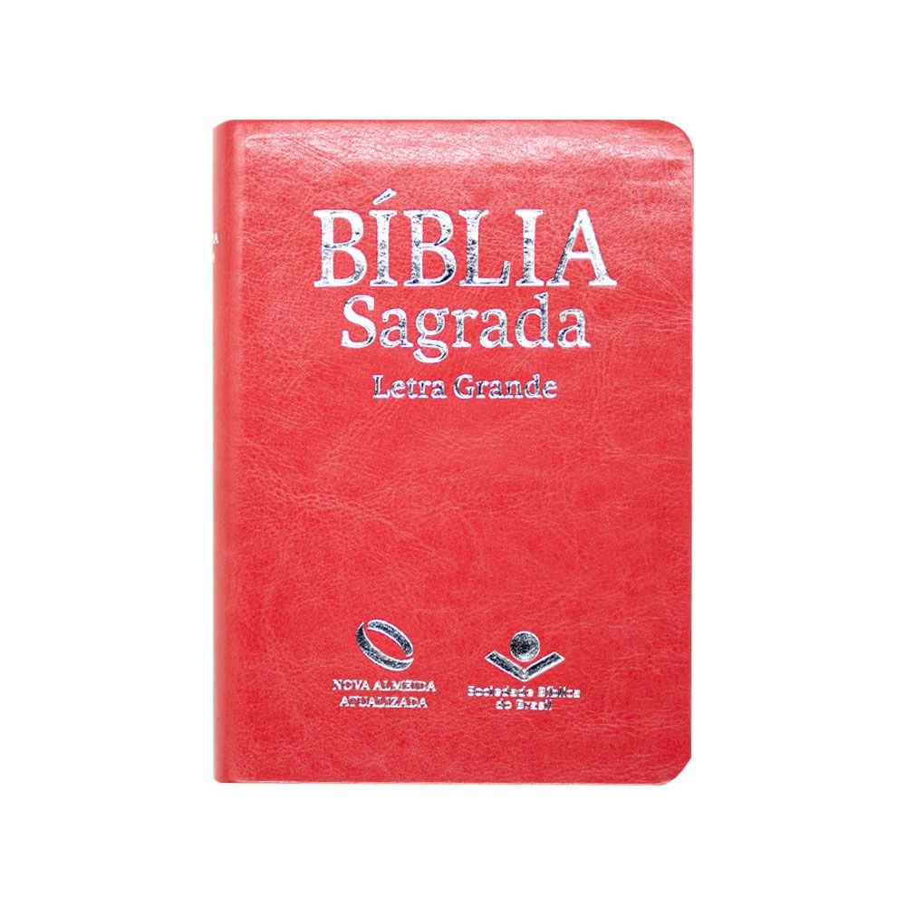 Bíblia Sagrada Com Índice | NAA | Letra Grande | Couro Sintético | Pêssego