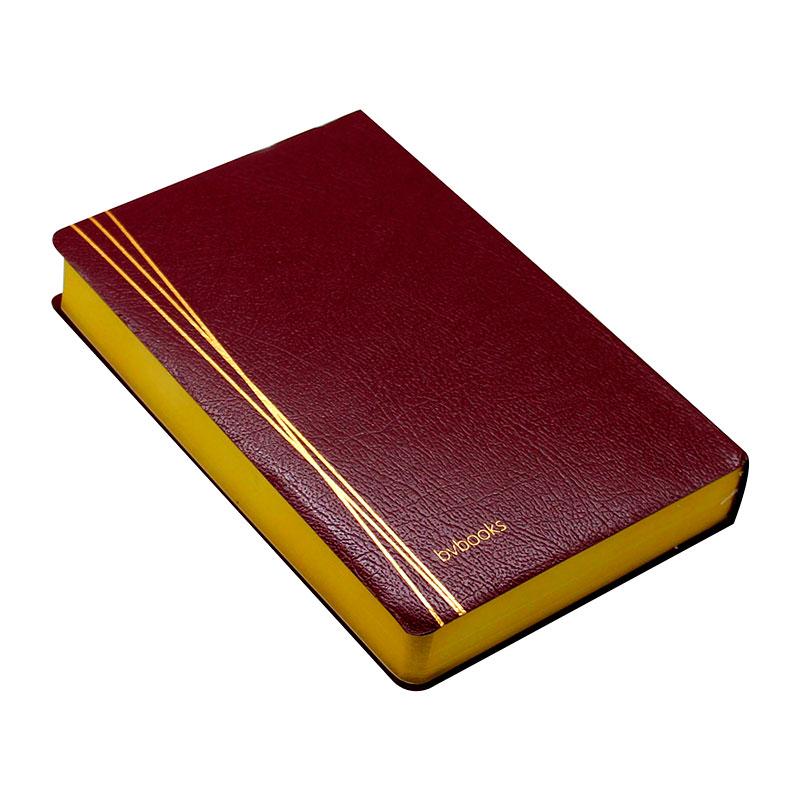 Bíblia Sagrada Com Referências   SBU  Capa Couro Sintético   Vinho