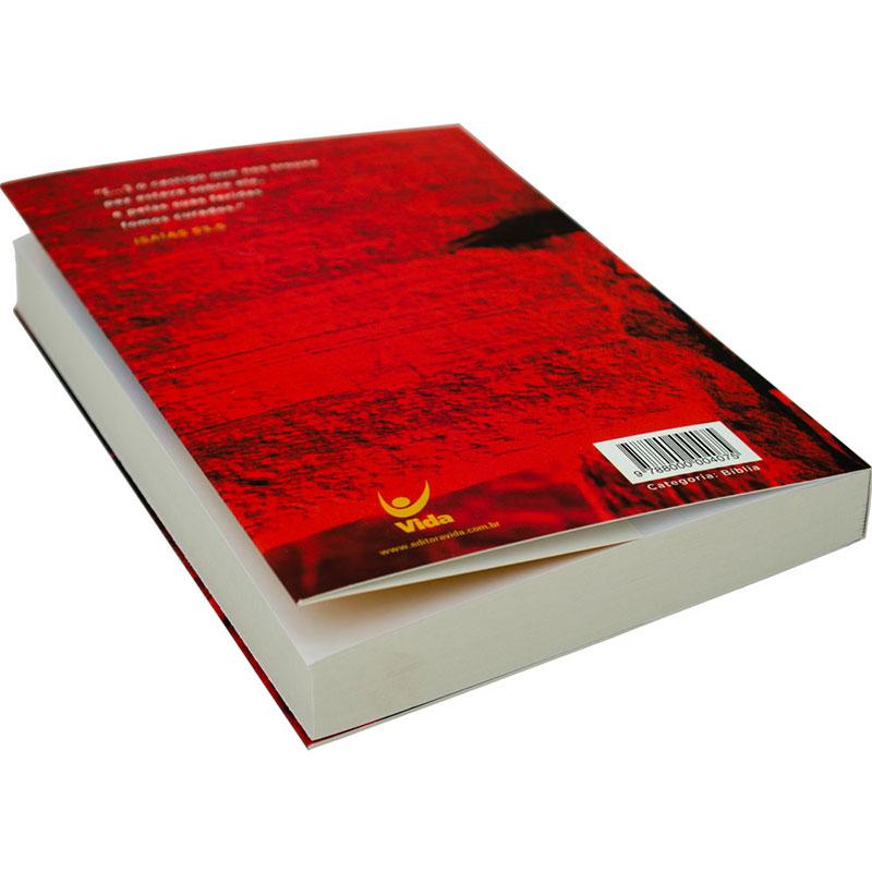 Bíblia Sagrada Cravos   NVI   Capa Brochura Vermelha