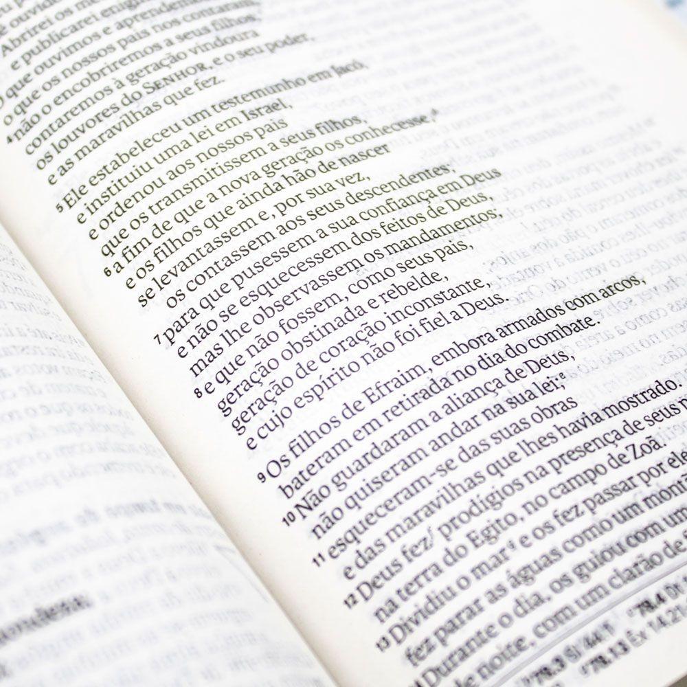 Bíblia Sagrada Cruz   Naa   Capa Semiflexível   Letra Grande   Verde Água
