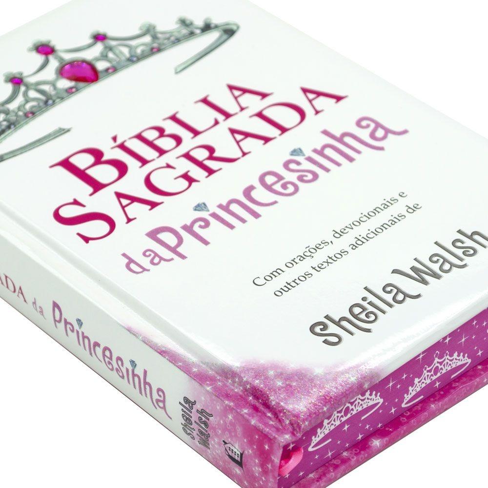 Bíblia Sagrada Da Princesinha   NTLH   Capa Dura   Branca