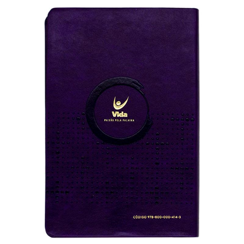 Bíblia Sagrada  Econômica | Nvi | Slim / Ultrafina | Capa Pu Violeta