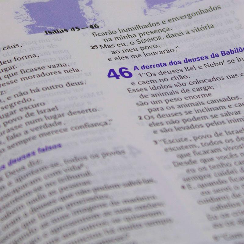 Bíblia Sagrada Edição Com Notas Para Jovens | NTLH | Couro Sintético | Azul Com Prata