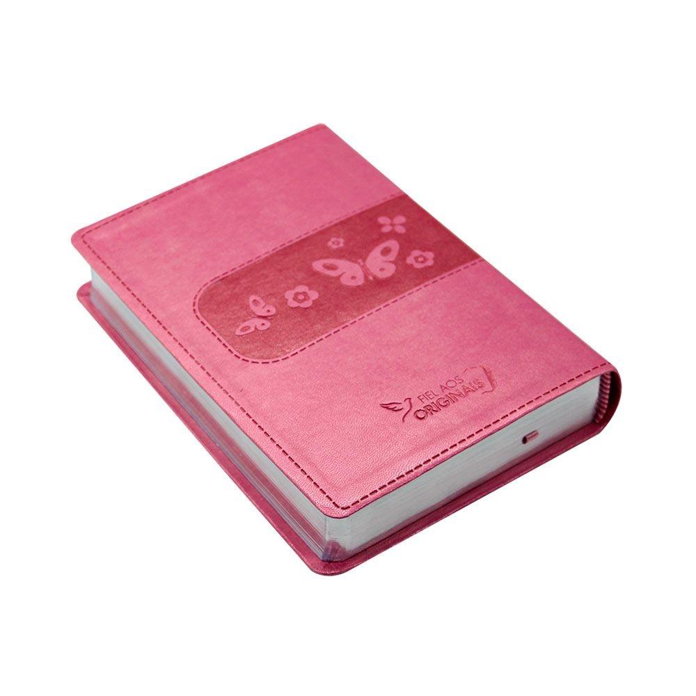 Bíblia Sagrada Entre Meninas E Deus   NTLH   Capa Couro Sintético Rosa