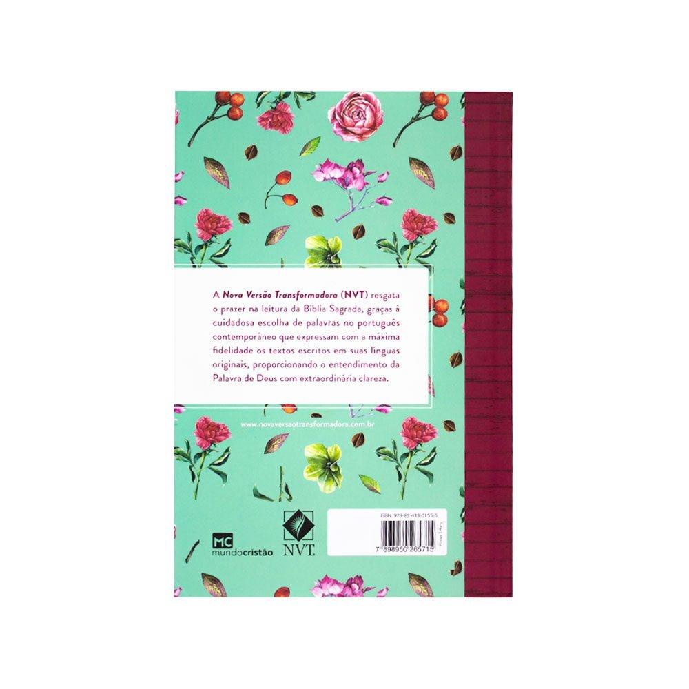 Bíblia Sagrada Flores  NVT   Capa Dura   Letra Grande   Colorida