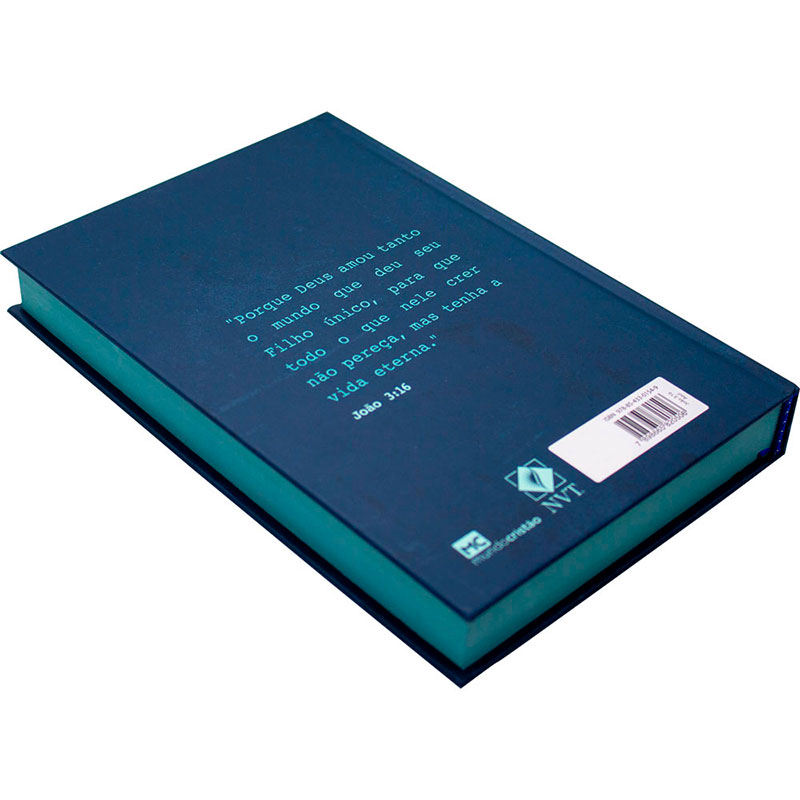 Bíblia Sagrada João 3.16 Azul   NVT   Capa Dura   Azul