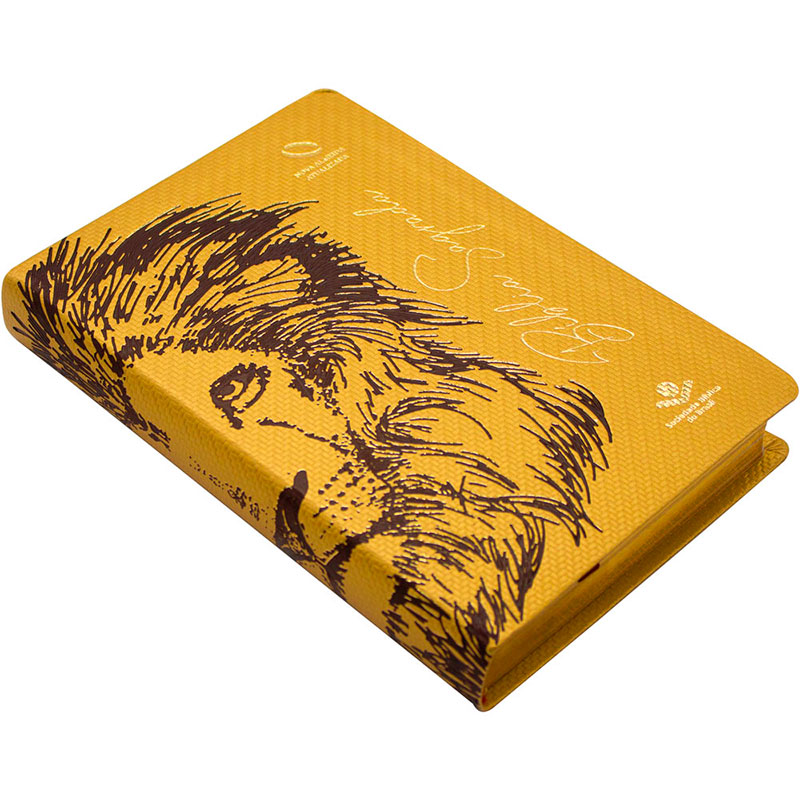 Bíblia Sagrada Leão | NAA | Capa Luxo Ilustrada | Bege