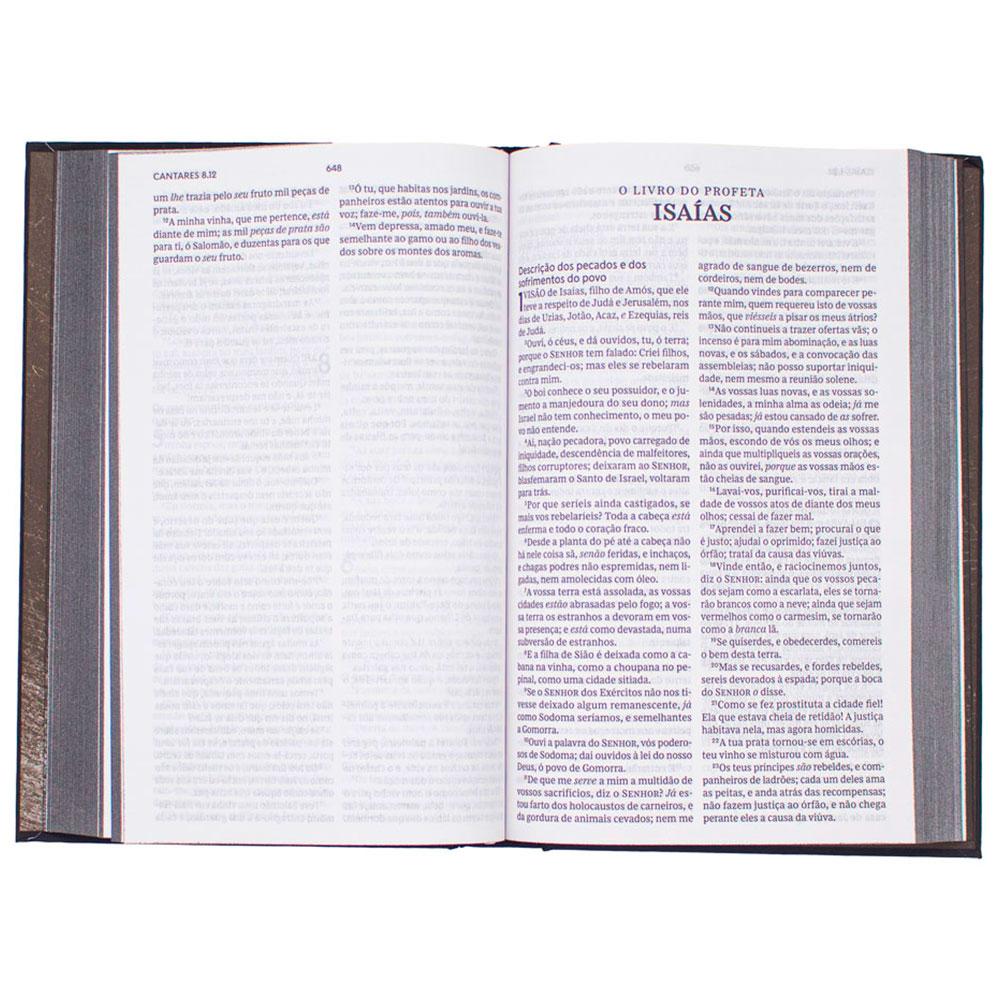 Bíblia Sagrada Leitura Perfeita Cruz Branca   ACF   Capa Soft Touch   Preta