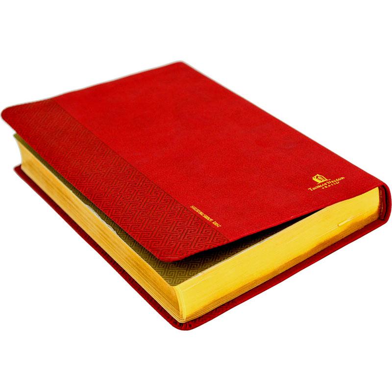 Bíblia Sagrada Leitura Perfeita   NVI   Capa Luxo   Vermelha