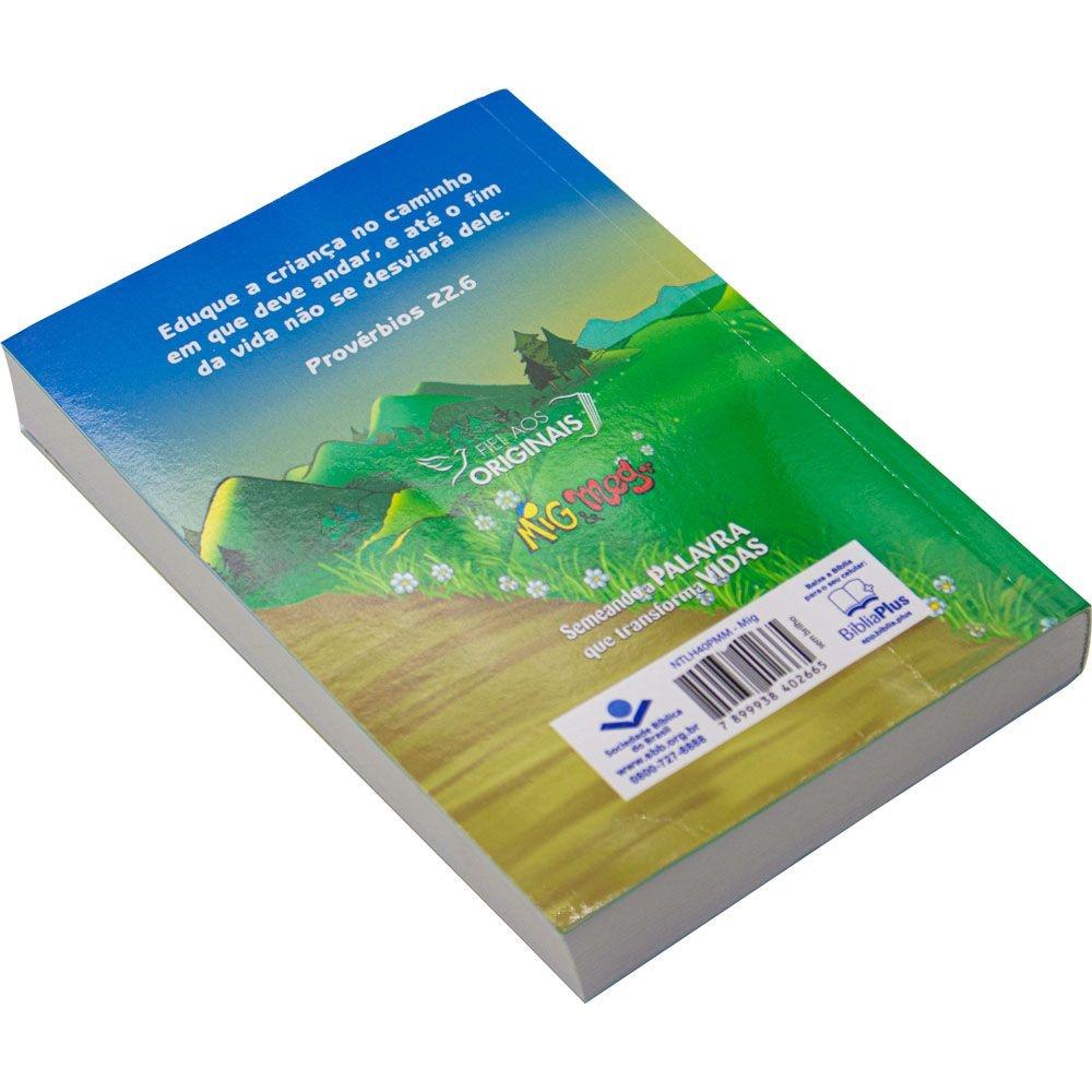 Bíblia Sagrada Mig E Meg   NTLH   Capa Brochura   Verde