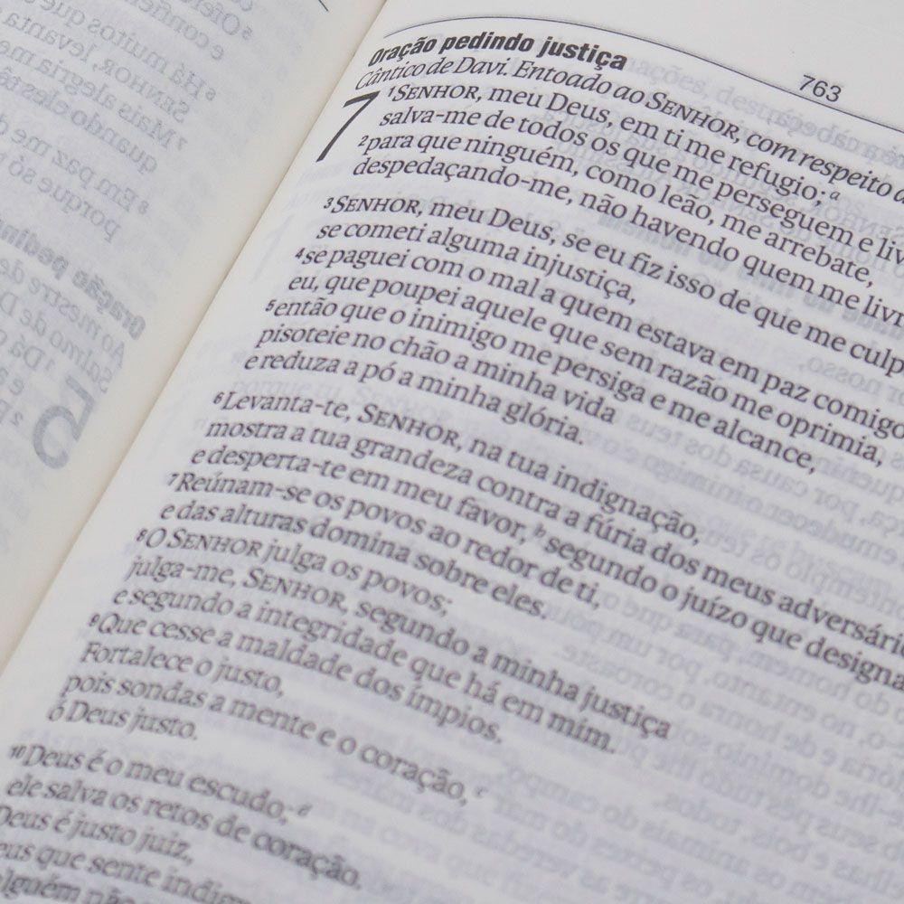 Bíblia Sagrada | NAA | Capa Luxo | Rosa