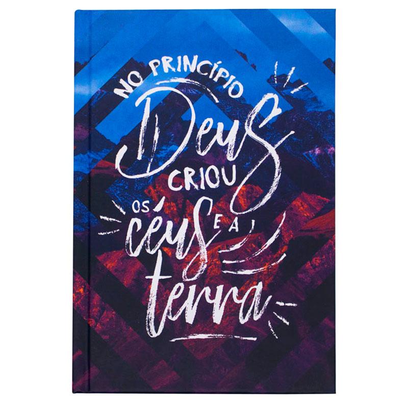 Bíblia Sagrada No Princípio   NVT   Capa Comum   Azul e Vermelho